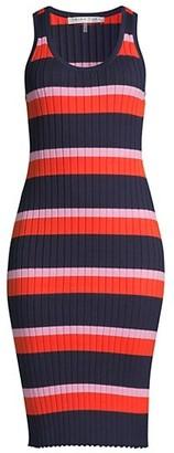Trina Turk Gardenia Striped Knit Dress