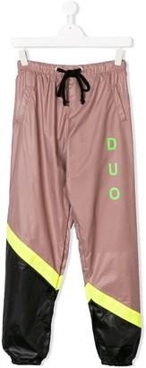 DUOltd TEEN colour block track pants