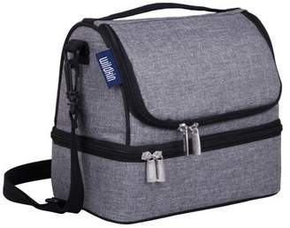 Wildkin Grey Tweed Two Compartment Insulated Lunch Bag for Boys and Girls