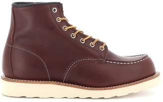 Red Wing Shoes Boot Leather Classic Moc Toe Briar Oil Slick