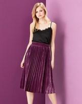 Yumi Velvet Pleated Skirt