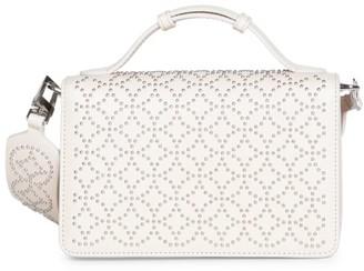 Alaia Franca Arabesque Studded Leather Shoulder Bag