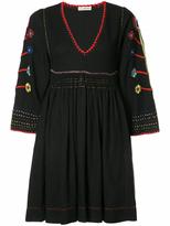 Ulla Johnson Three-Quarter Sleeve Embroidered Mini Dress