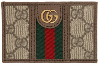 Gucci Beige GG Ophidia Card Holder