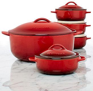 Le Creuset 5 Piece Legumier Pot & Serving Dish Set