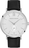 Larsson & Jennings Lugano Kulor 38mm Watch Silver & White