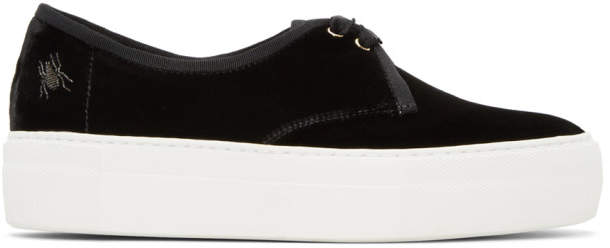 Charlotte Olympia Black Portobello Platform Sneakers