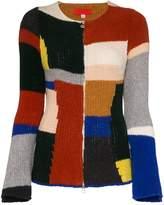 Eckhaus Latta panelled knitted zip cardigan