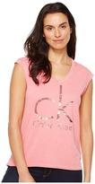 Calvin Klein Jeans Brushstroke Foil Logo Tee Women's T Shirt