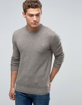 Jack Wills Merino Jumper In Donegal Stone