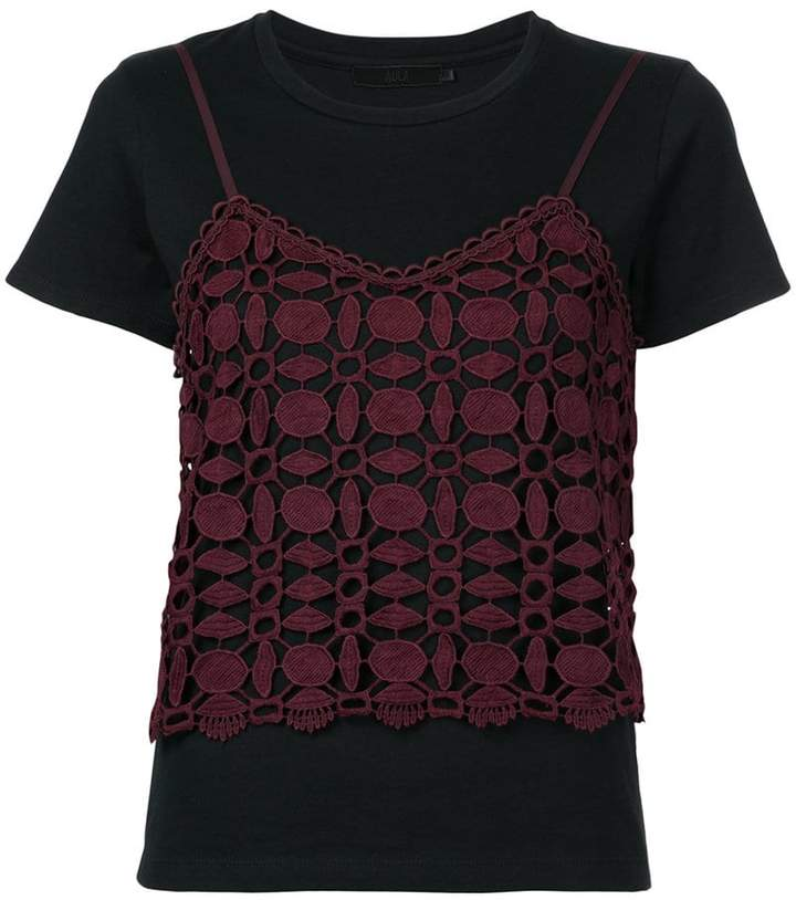 Aula t-shirt with lace detail