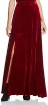 Alice + Olivia Athena Double-Slit Velvet Maxi Skirt