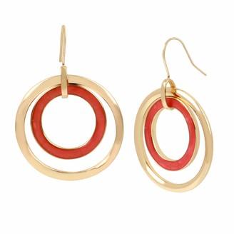 Kenneth Cole Marble Orbital Drop Earrings