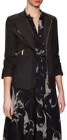 Thomas Wylde Daylily Cotton Asymmetrical Overlay Jacket