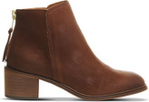 Office Inventive leather ankle boots