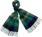 One Kings Lane Checkered Cashmere Scarf, Emerald/Gray