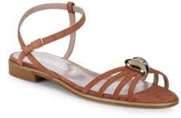 Aperlaï Brooch Ankle-Strap Sandals