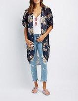 Charlotte Russe Floral Tunic Kimono