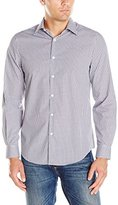 Perry Ellis Men's Regular Fit, Non Iron Color Check Pattern Shirt