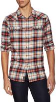 Jachs Men's Flannel Spread Collar Sportshirt
