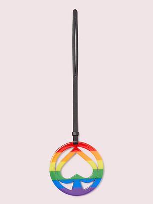 Kate Spade Rainbow Spade Cutout Bag Tag