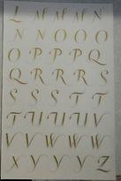 Martha Stewart 8037 Gold Metallic Alphabet - 2sheets = 80 Pcs - Pkg 10x5