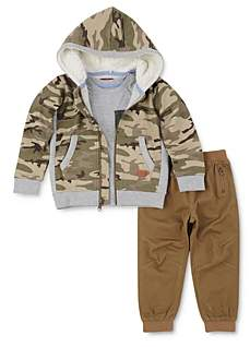 7 For All Mankind Boys' Camo Hoodie, Tee & Jogger Pants Set - Little Kid