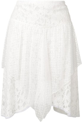 See by Chloe Asymmetric Lace Skirt