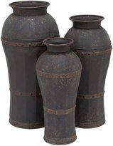 Deco 79 Metal Vase, 37 by 33 by 29-Inch, Set of 3