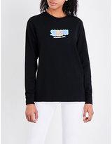 Stussy Liquid logo-print cotton-jersey top