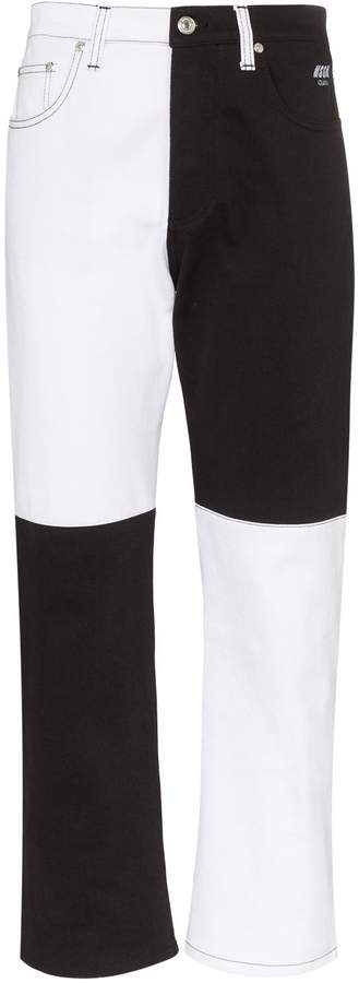 MSGM straight-leg two-tone jeans