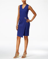 Thalia Sodi Asymmetrical Faux-Wrap Dress, Only at Macy's