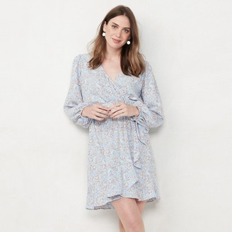 Lauren Conrad Women's Balloon Sleeve Wrap Dress
