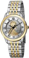 August Steiner Women's CN011TTG Yellow Gold and Silver Quartz Watch with Lincoln Wheat Penny Dial and Two Tone Bracelet