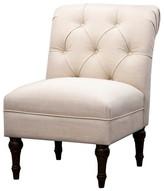 Threshold Upholstered Chair Tufted Slipper Linen