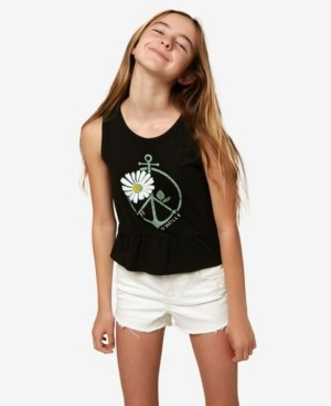 O'Neill Big Girls Peace and Surf Tank Top