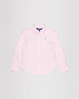 Polo Ralph Lauren Ruffled Cotton Oxford Shirt - Kids