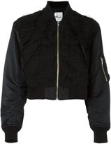 Comme des Garcons cropped bomber jacket - women - Polyester/Nylon/Cupro - S