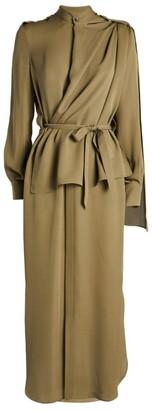 Roland Mouret Peplum-Waist Northcott Maxi Dress