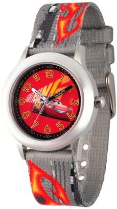 Disney Boy' Diney Car 3 Lightning Mcqueen tainle teel Time Teacher Watch - Gray