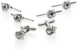 David Donahue Silver Knot Stud Set