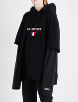 Vetements Double-sleeve cotton-blend hoody