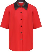 Kith & Kin Red Shirt With Dotted Collar