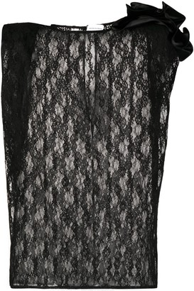 Magda Butrym Lace Panel Sleeveless Top