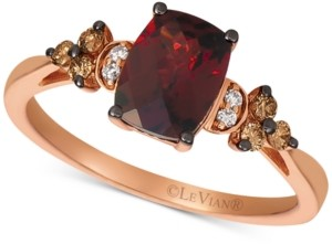LeVian Le Vian Rhodolite Garnet (1-3/4 ct. t.w.) & Diamond (1/6 ct. t.w.) in 14k Yellow Gold (Also Available in Rose Gold)
