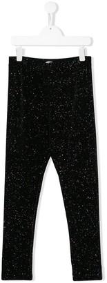 Philosophy Di Lorenzo Serafini Kids TEEN glitter-effect leggings