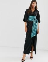 Closet London Closet maxi wrap dress