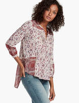 Lucky Brand Woven Mixed Floral Top