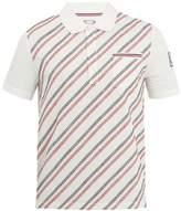 Moncler Gamme Bleu Geometric-embroidered cotton polo shirt