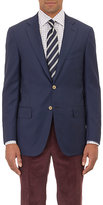 Isaia Men's Stewart Hopsack Two-Button Sportcoat-NAVY